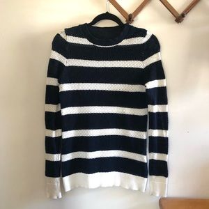 Alfred Sung Cotton Striped Sweater